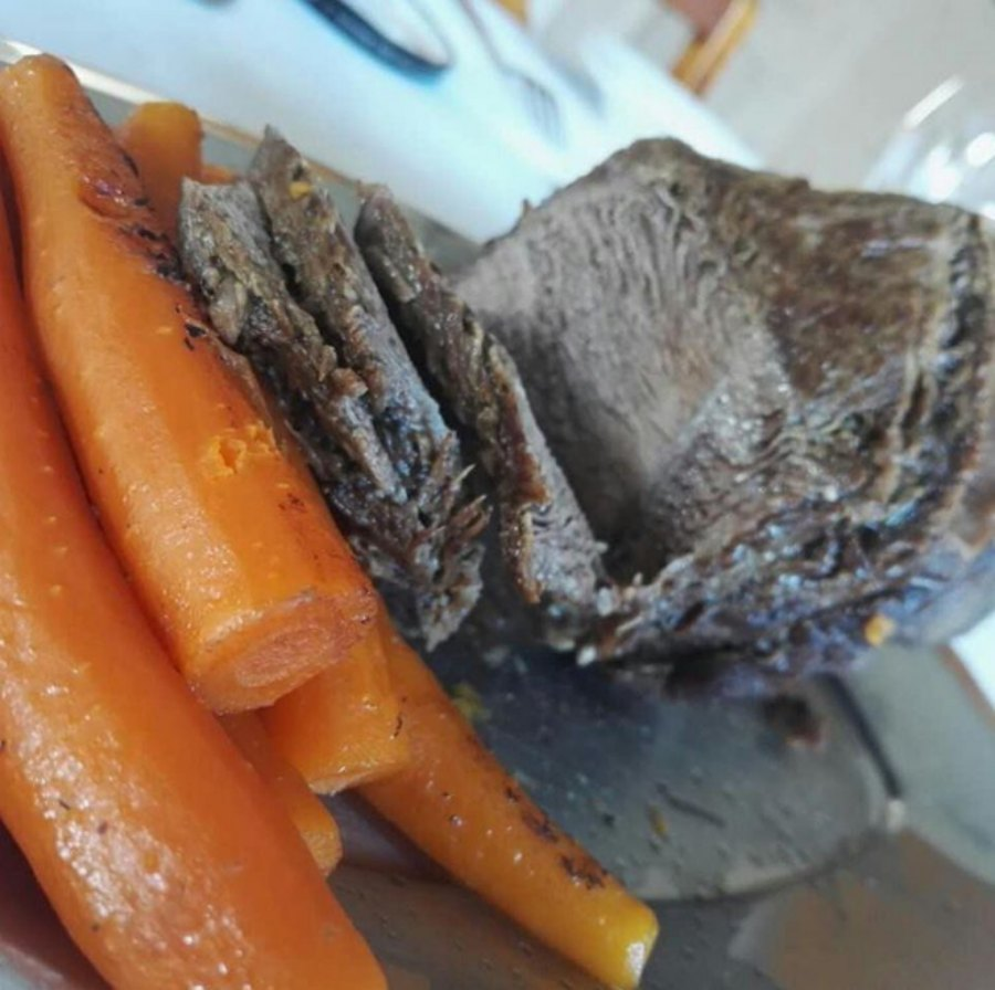 meat and carrots