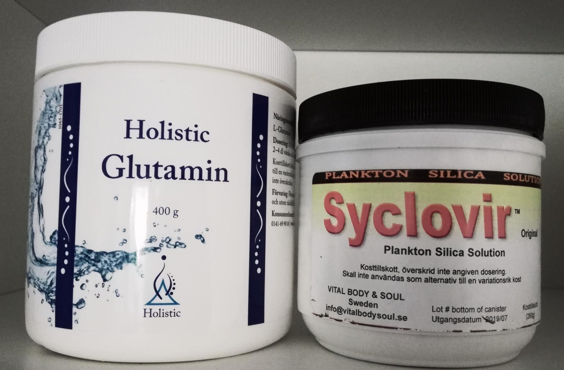 syclovir och glutamin
