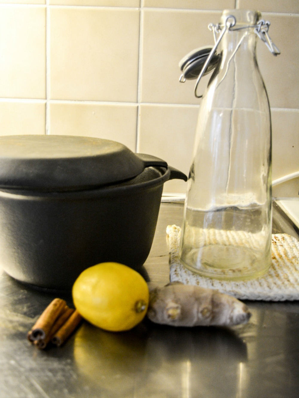 kanel, ingefära och citron till god höstdryck
